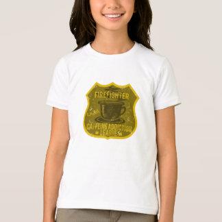 Firefighter Caffeine Addiction League T-Shirt