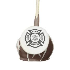 Firefighter Cake Pops