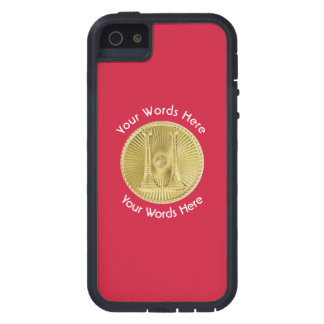 Firefighter Captain 2 Gold Bugle Medallion iPhone SE/5/5s Case