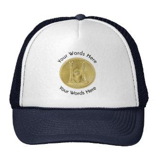 Firefighter Captain 2 Gold Bugle Medallion Trucker Hat