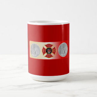 Firefighter Captain 2 Trumpet Shield Coffee Mug