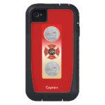 Firefighter Captain 2 Trumpet Shield iPhone4 Case