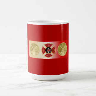 Firefighter Captain Crossed Trumpet Shield Coffee Mug