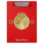 Firefighter Captain Gold Medallion Clipboard
