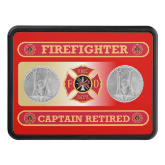 Firefighter Captain's Retired Shield Hitch Cover