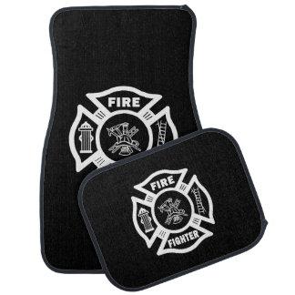 Firefighter Car Floor Mat
