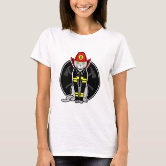 Firefighter Cat T-Shirt