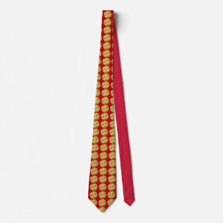 Firefighter Chief 5 Bugle Gold Medallion Tie