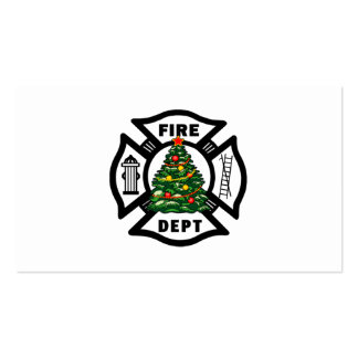 Firefighter Christmas Fire Dept Double-Sided Standard Business Cards (Pack Of 100)