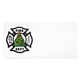 Firefighter Christmas Fire Dept Card