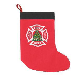 Firefighter Christmas Stocking.Firefighter Christmas Fire Dept Small Christmas Stocking