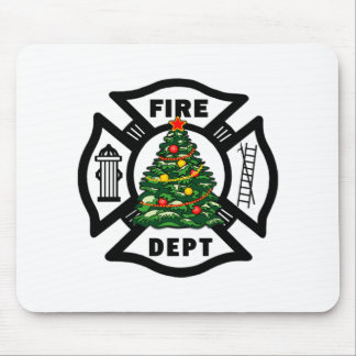 Firefighter Christmas Mouse Pad