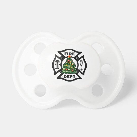 Firefighter Christmas Pacifier