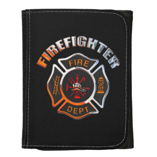 Firefighter Chrome Badge Wallets