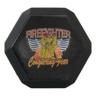 Firefighter Conquering Fear Black Bluetooth Speaker