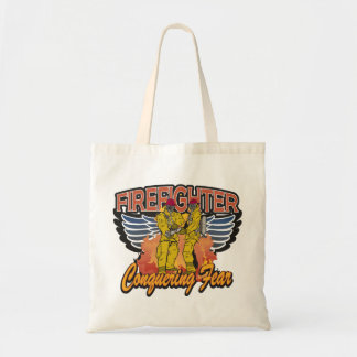 Firefighter Conquering Fear Tote Bag