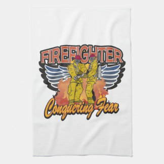 Firefighter Conquering Fear Towels