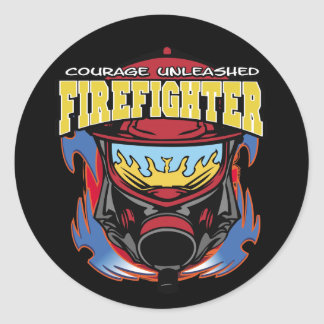Firefighter Courage Classic Round Sticker