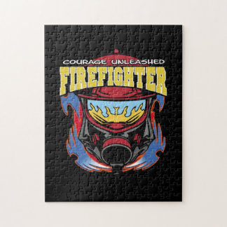 Firefighter Courage Jigsaw Puzzle