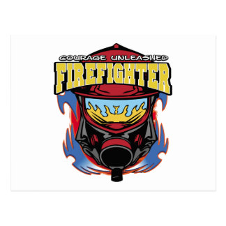 Firefighter Courage Postcard