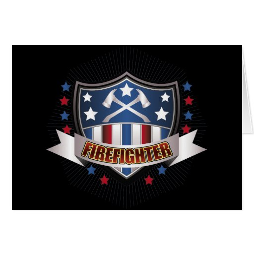 Firefighter Crest Greeting Card