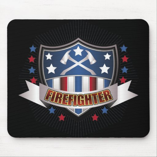 Firefighter Crest Mouse Pad