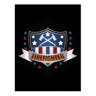 Firefighter Crest Postcard