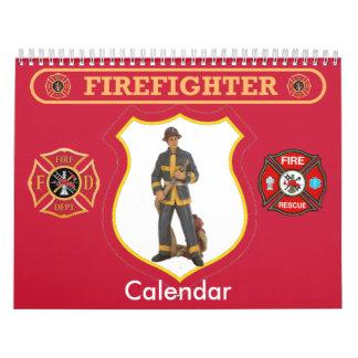 Firefighter Custom Calendar