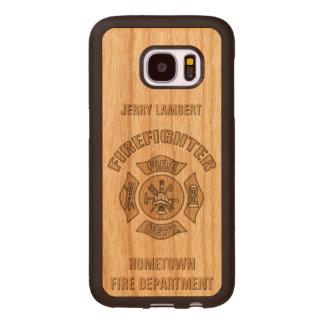Firefighter Custom Template Wood Samsung Galaxy S7 Case
