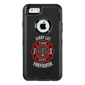 Firefighter Custom Text Name Personalized OtterBox Defender iPhone Case