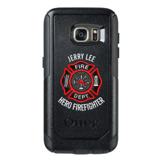 Firefighter Custom Text Name Personalized OtterBox Samsung Galaxy S7 Case