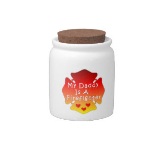 Firefighter Daddy Candy Jar