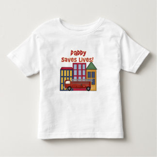 Firefighter Daddy Saves Lives T Shirt