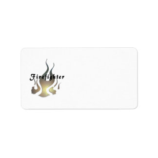 Firefighter Decal Label