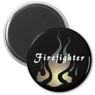 Firefighter Decal 2 Inch Round Magnet