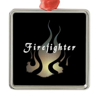 Firefighter Decal ornament