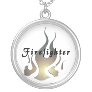 Firefighter Decal Personalized Necklace