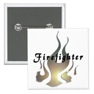 Firefighter Decal Pinback Button