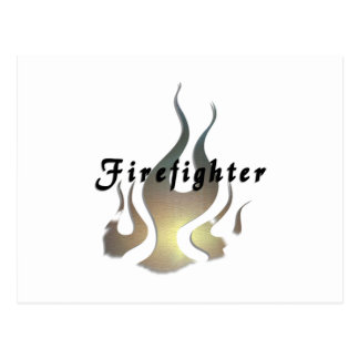 Firefighter Decal Postcard