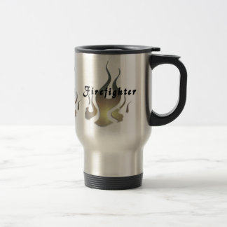 Firefighter Decal Travel Mug
