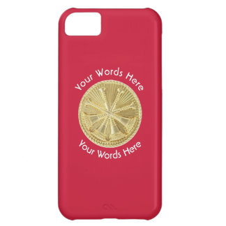 Firefighter Deputy Chief Gold Medallion Cover For iPhone 5C