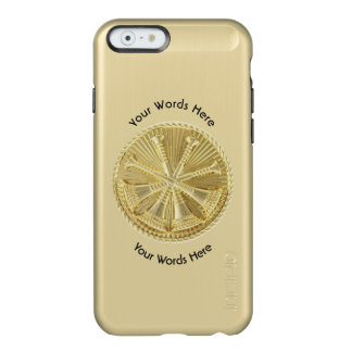 Firefighter Deputy Chief Gold Medallion Incipio Feather Shine iPhone 6 Case