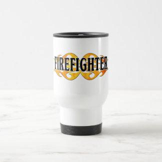 Firefighter Double Flames Travel Mug