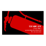 firefighter Double-Sided standard business cards (Pack of 100)
