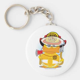 Firefighter Duck Keychain