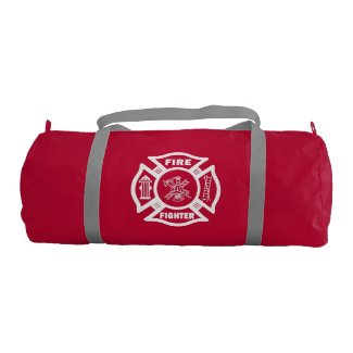 Firefighter Theme Logo Bags