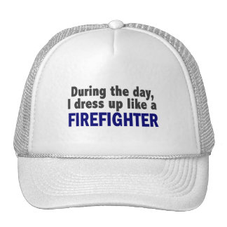 Firefighter During The Day Mesh Hats