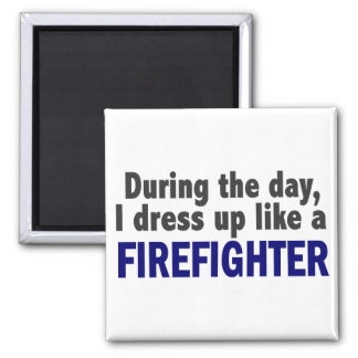 Firefighter During The Day Refrigerator Magnets