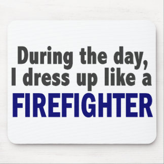 Firefighter During The Day Mouse Pads