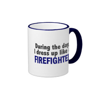 Firefighter During The Day Mug